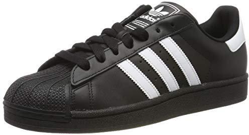adidas superstar 2 black with white stripes