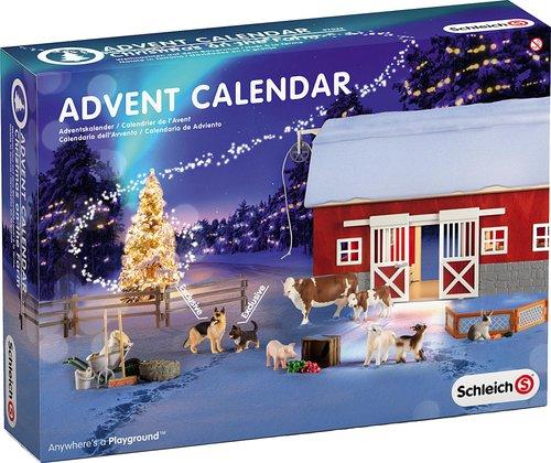 Weihnachtskalender Schleich Pferde.Schleich Adventskalender Bauernhof 97022