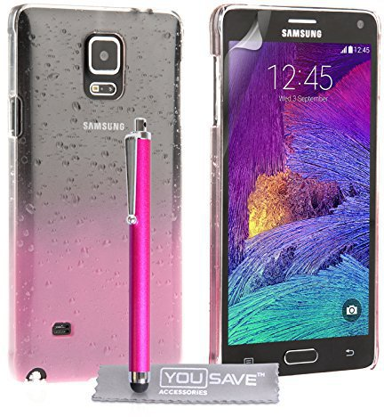 Yousave Accessories Raindrop Hard Case (Samsung Galaxy Note 4)