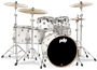 Pacific Drums & Percussion Concept Maple Pearlescent White (CM6) Drums & Percussion Vergleich