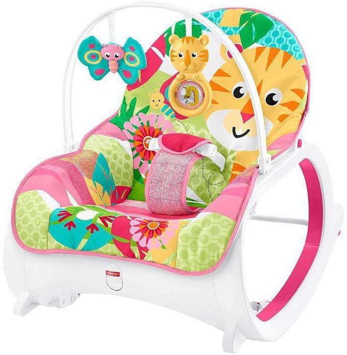 Fisher-Price Babyschaukel FMN41 Vibration 3in1 Funktion Lehne einstellbar rosa