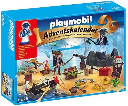 Playmobil Adventskalender Geheimnisvolle Piratenschatzinsel (6625)