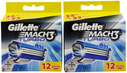 Gillette MACH3 Turbo Systemklingen (12 Stk.)