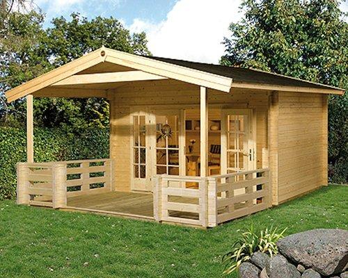 weka Holzbau Panorama Größe 2 (mit 200cm Vordach und Terrasse)