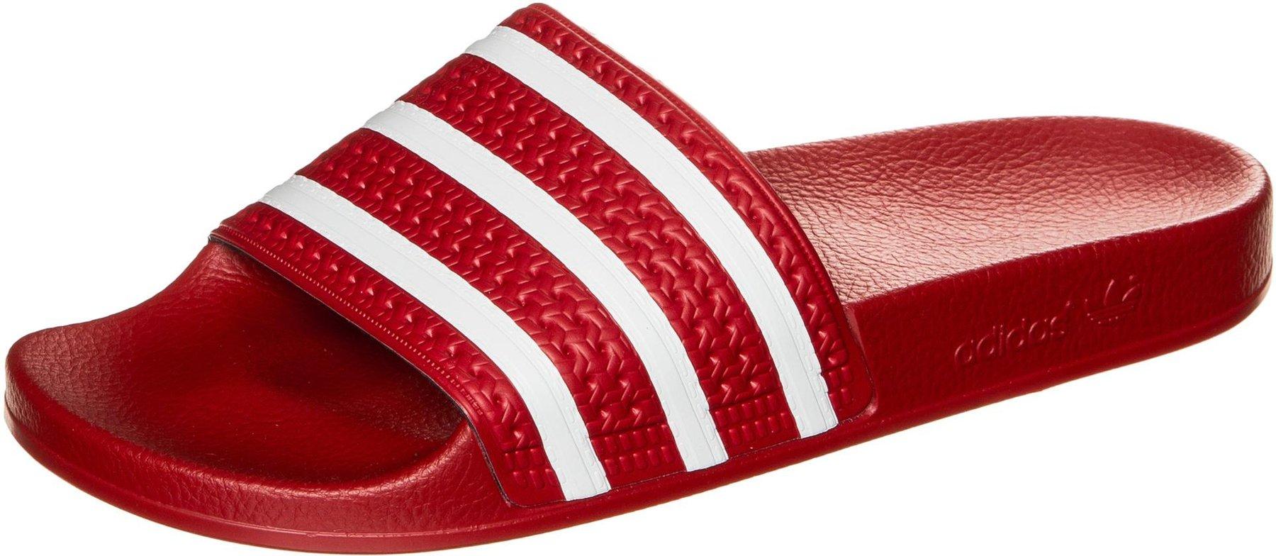 Adidas Adilette (rot/weiß)