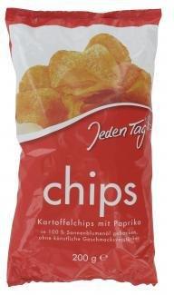 Jeden Tag Kartoffelchips mit Paprika (200 g)