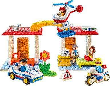 playmobil krankenhaus mit sanitäter und polizist 5046
