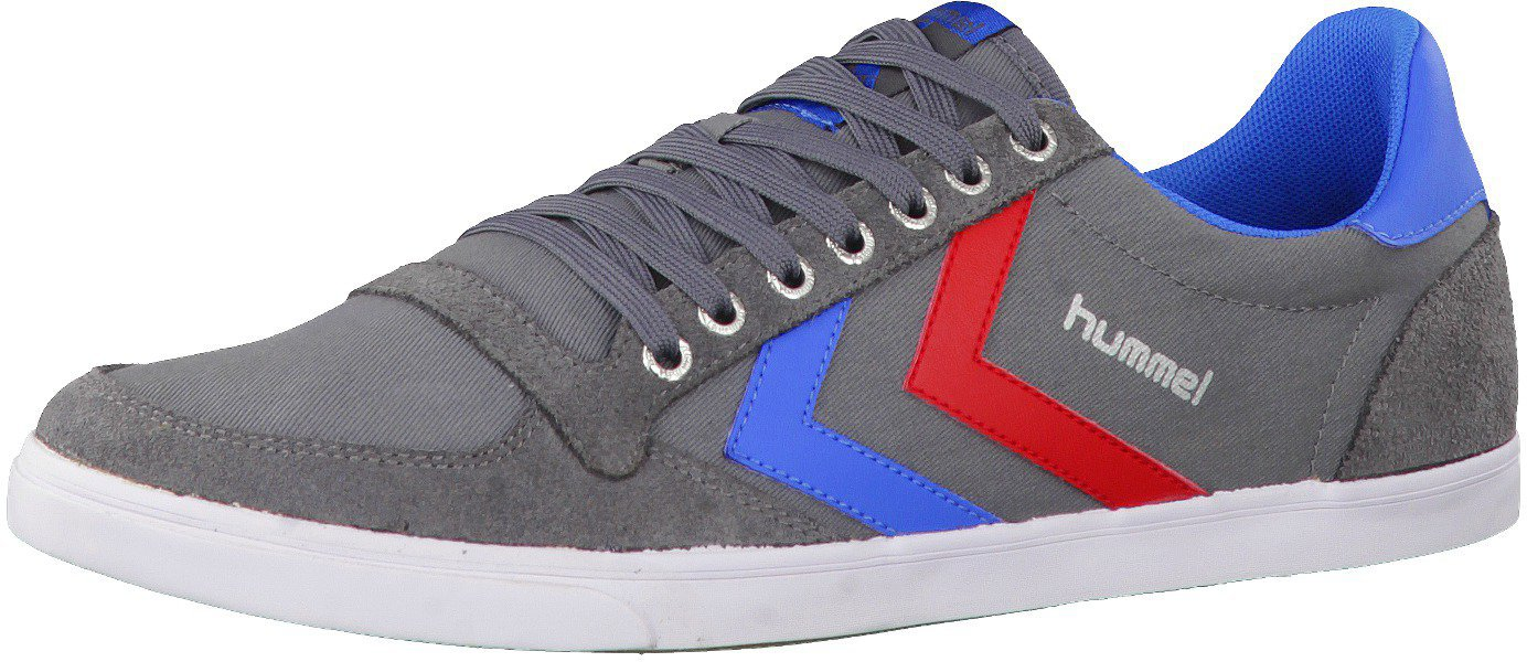 brand new 2b66c 9c720 Hummel Slimmer Stadil Low Canvas castlerock/ribbon red/brilliant blue