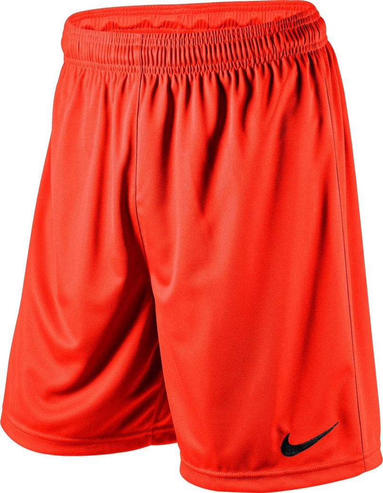Nike Short Park II Knit ohne Innenslip orangeschwarz