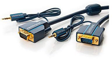 Clicktronic® 70130 Casual VGA und Audio-Verbindungskabel (2,0m)