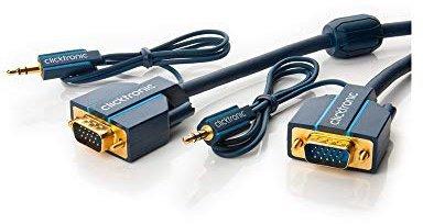 Clicktronic® 70133 Casual VGA und Audio-Verbindungskabel (7,5m)
