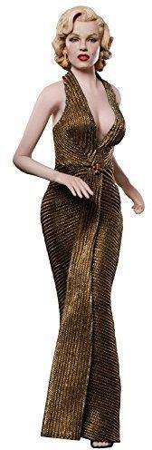 1//6 DIY Marilyn Monroe weibliche PH Figur Puppe Gold Kleid und Kopf Sammlung