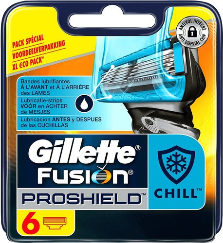 Gillette Fusion ProShield Chill Systemklingen (6 Stk.)