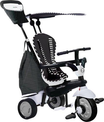 Smart Trike Glow 4 in 1 mit Touch Steering Schwarz Weiß