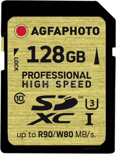 AgfaPhoto SDXC Professional High Speed Gold 128GB UHS-I U3 (10508)