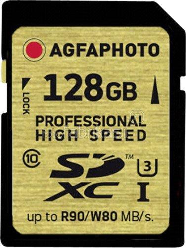AgfaPhoto SDHC/SDXC Professional High Speed Gold UHS-I U3