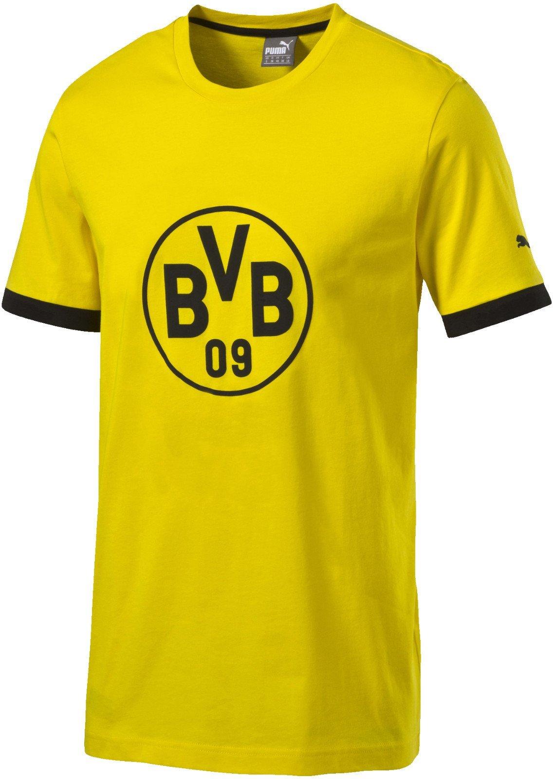 S-3XL Gelb mit Foto-Print vom Signal Iduna Park 100/% Baumwolle gelb BVB-T-Shirt