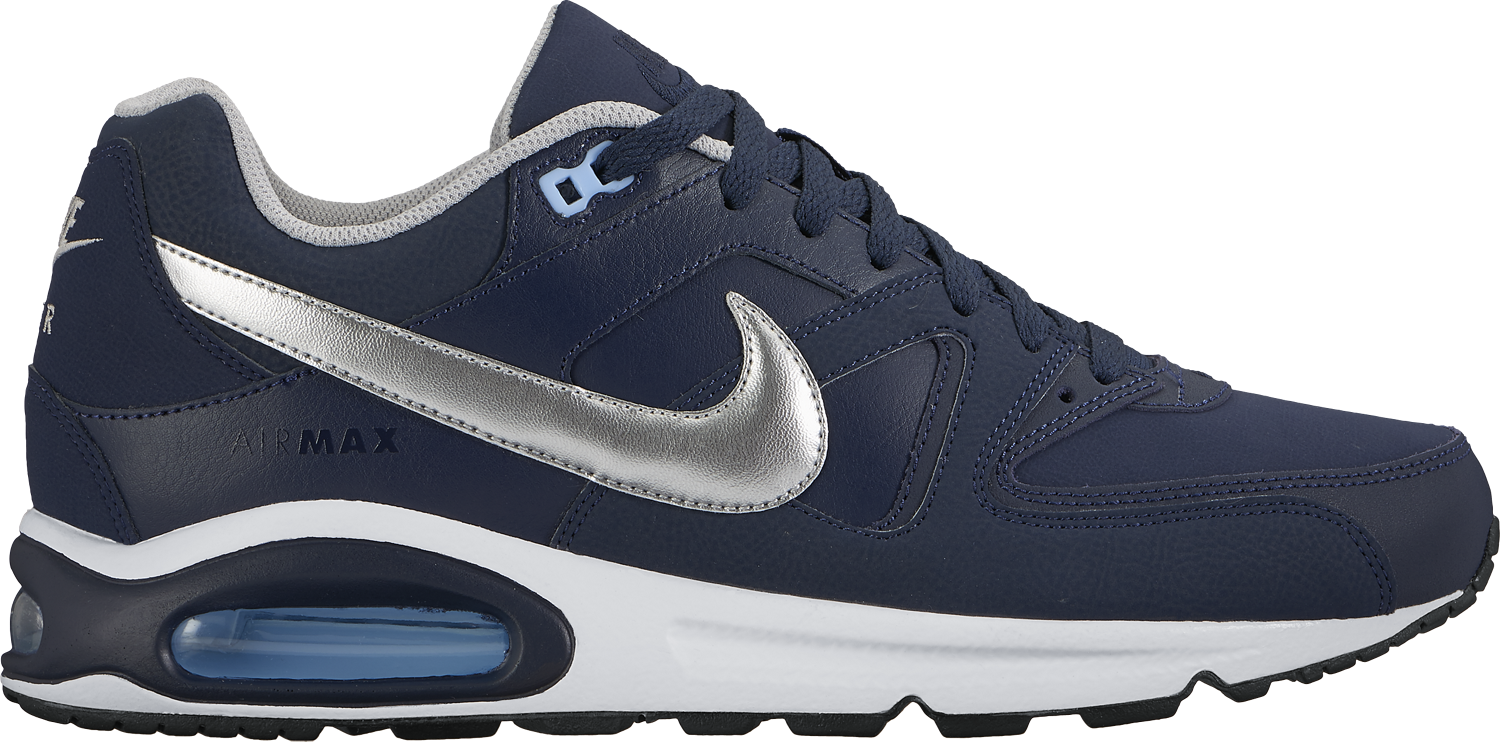 Nike Air Max Command Leather obsidianmetallic silverbluecapwhite