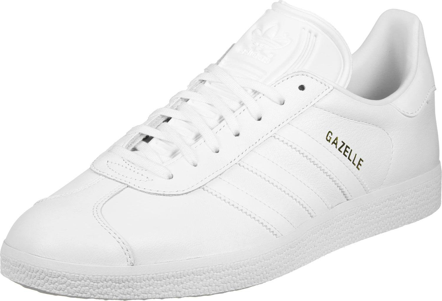 Adidas Gazelle white/white/gold metallic