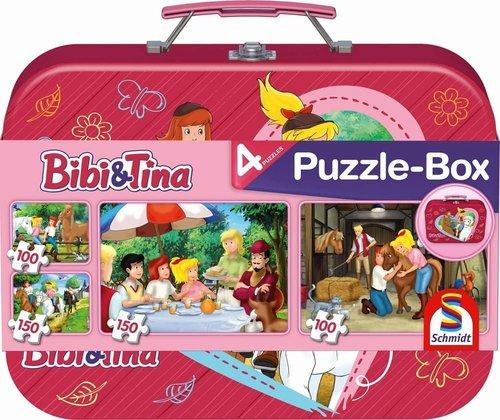 Schmidt Spiele Bibi & Tina Puzzle-Box im Metallkoffer
