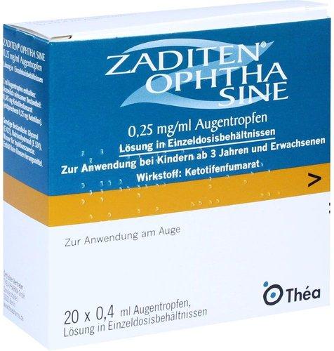 Thea Pharma Zaditen ophtha sine Augentropfen (20 x 0,4 ml)