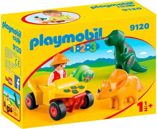 Playmobil 1.2.3 - Dinoforscher mit Quad (9120)