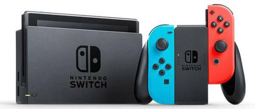 Nintendo Switch Schwarz Neon-Rot/Neon-Blau