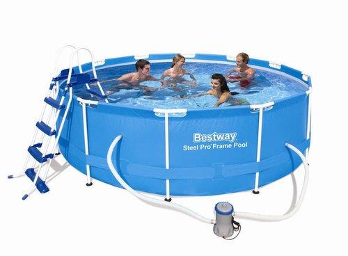 Bestway Steel Pro Frame Pool 366 x 100 cm mit Kartuschenfilter (56418)