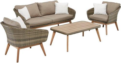 Rattan Gartenmöbel Set Kaufen Günstig Im Preisvergleich