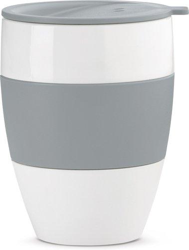 Koziol Aroma To Go Thermobecher mit Deckel grau