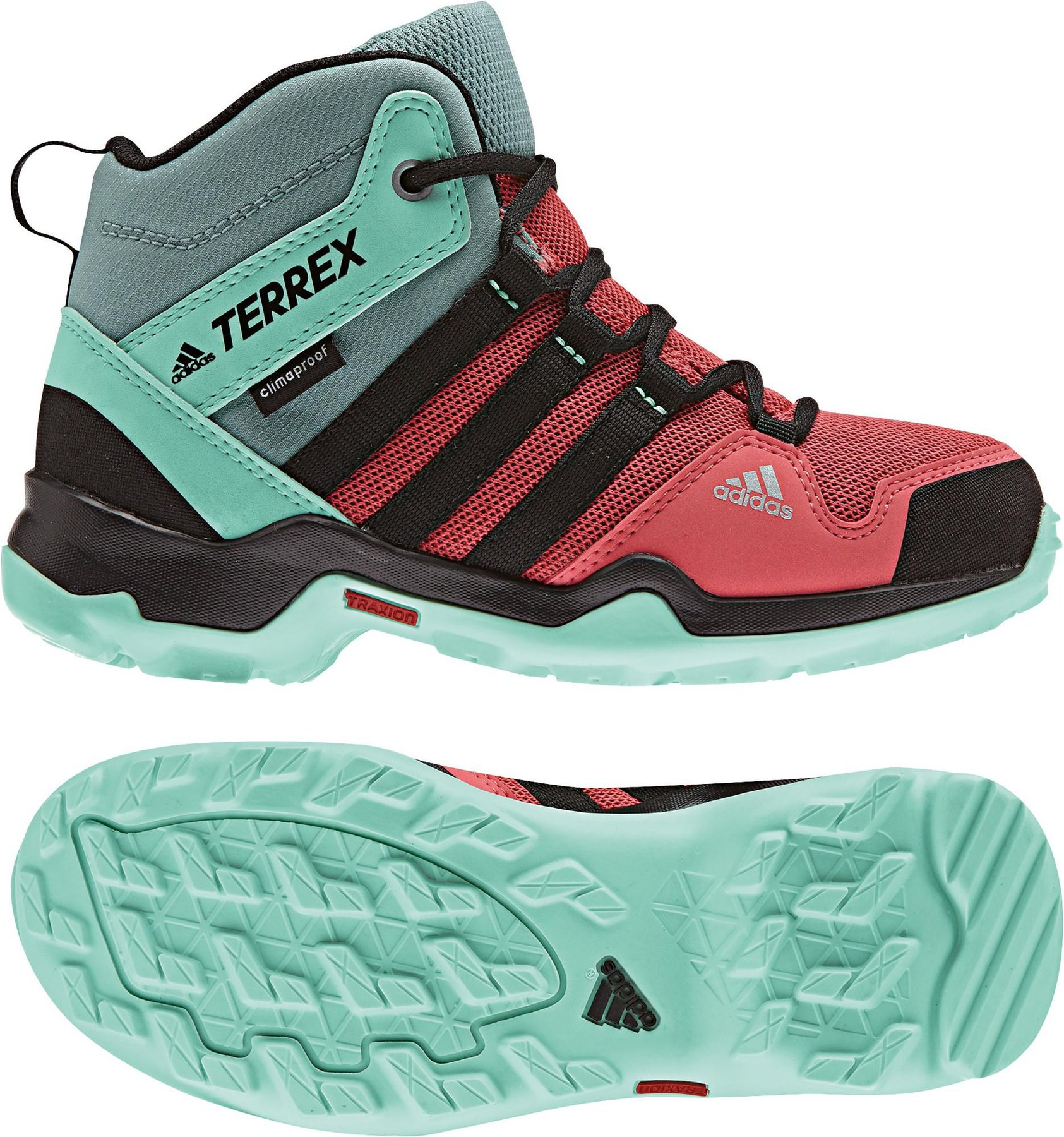 Adidas Terrex AX2R Mid CP K tactile pinkcore blackeasy green
