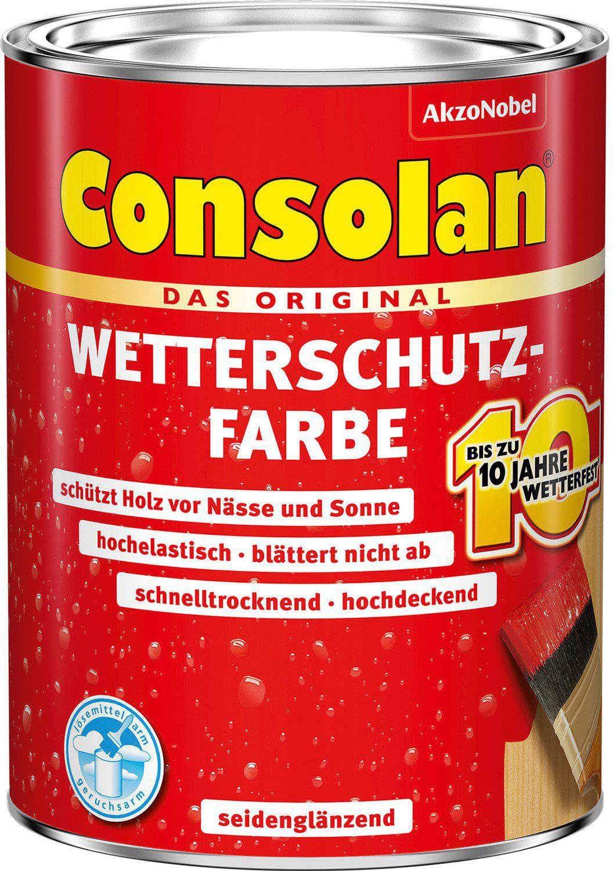 Super Consolan Wetterschutz-Farbe 2,5 l Anthrazitgrau günstig kaufen GM02