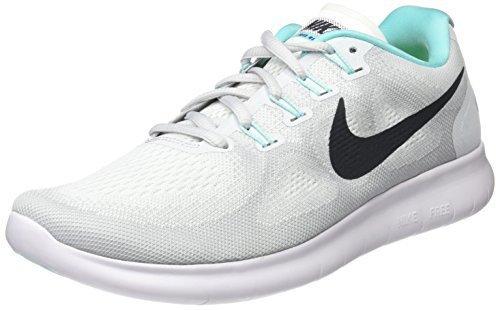 Nike Free RN 2017 Women whitepure platinumauroraanthracite (103)