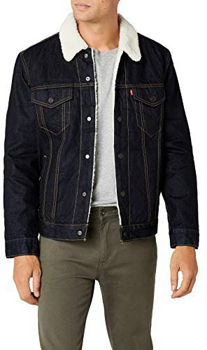 uk availability 76179 d66ff Levis Jeansjacke Sherpa Trucker Herren raw power dark-blue