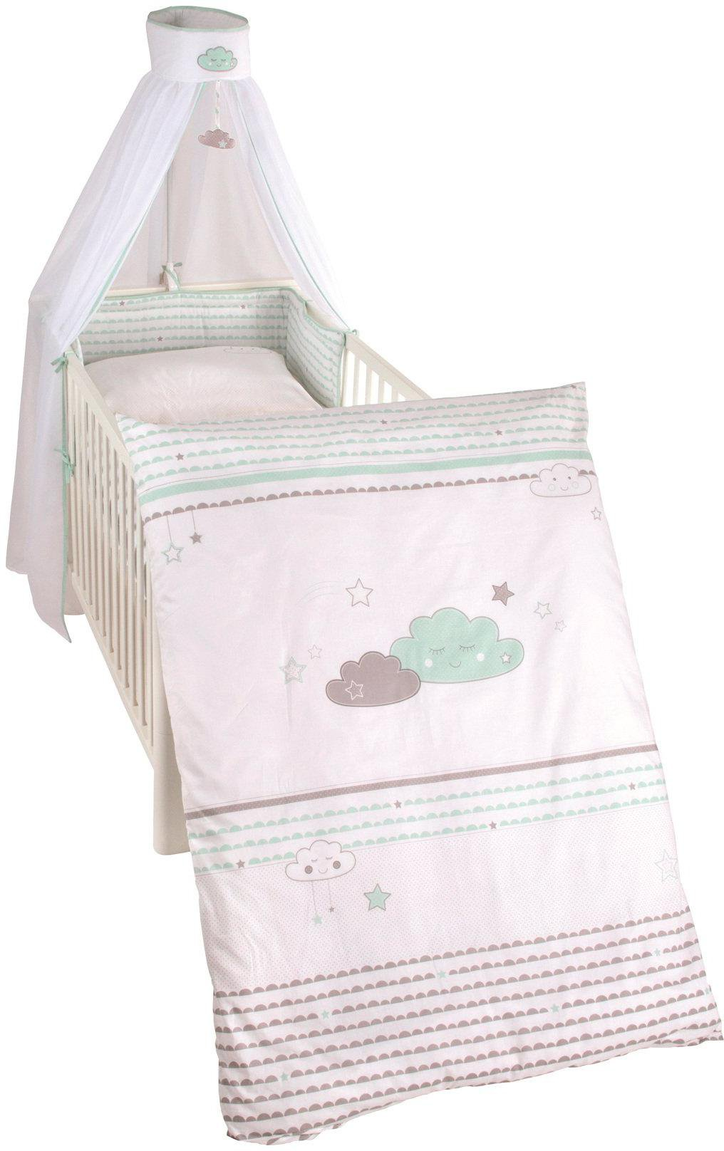 Roba Kinderbettgarnitur Himmelset für Kinderbett 3-tlg Happy Patch rosa NEU
