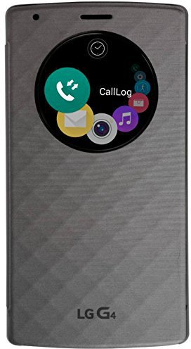 LG QuickCircle Pop Flip Cover silber (LG G4)