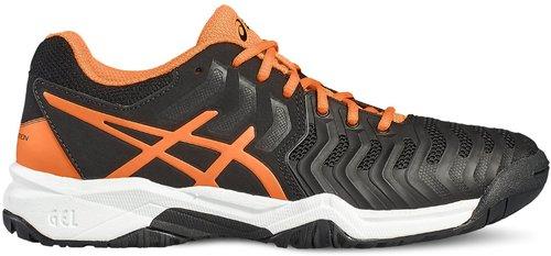 Asics Gel-Resolution 7 GS black/schocking orange/white