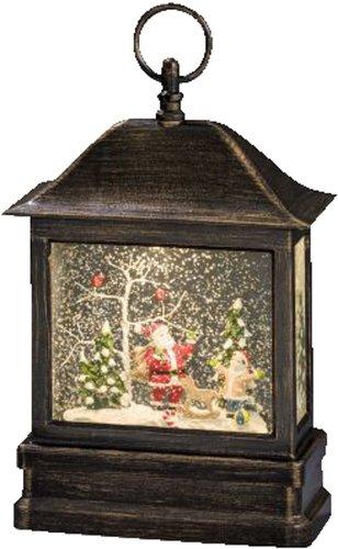 Konstsmide LED Schneelaterne mit Weihnachtsmann mit Kind (2886-000)