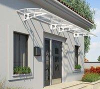 Schulte Vordach /Überdachung Haust/ürvordach 190x95cm Acrylglas satiniert Stahl wei/ß Pultbogenvordach