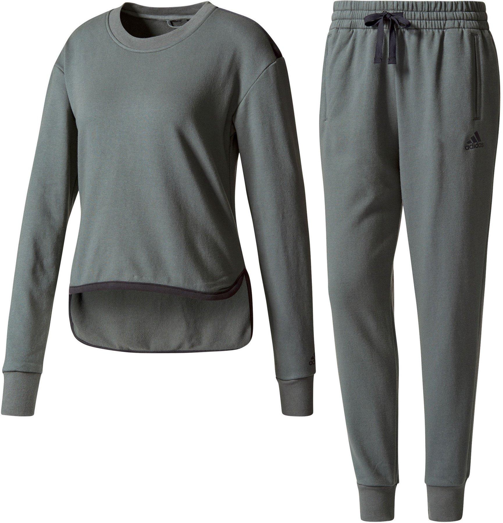 Räumungspreis genießen Modestil von 2019 Neuankömmling Adidas Chill Out Trainingsanzug Damen utility ivy/black