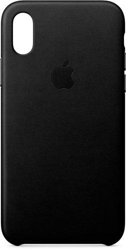 Apple Leder Case (iPhone X) schwarz