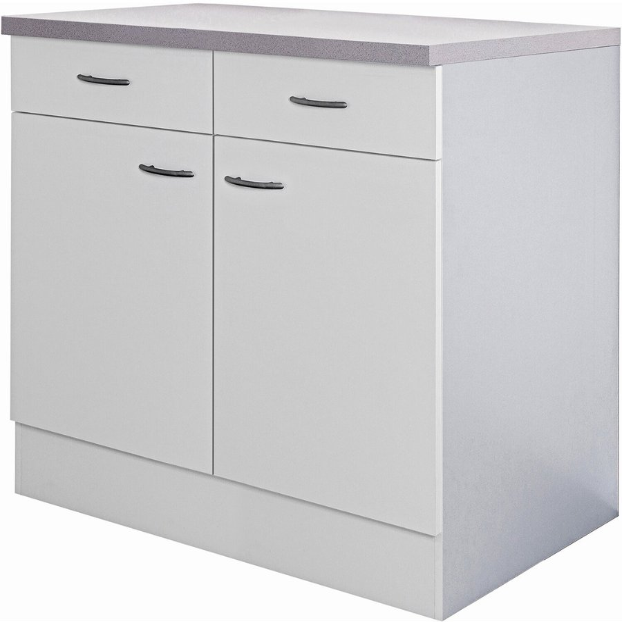 Flex-Well Küchen-Unterschrank Wito 100cm weiß