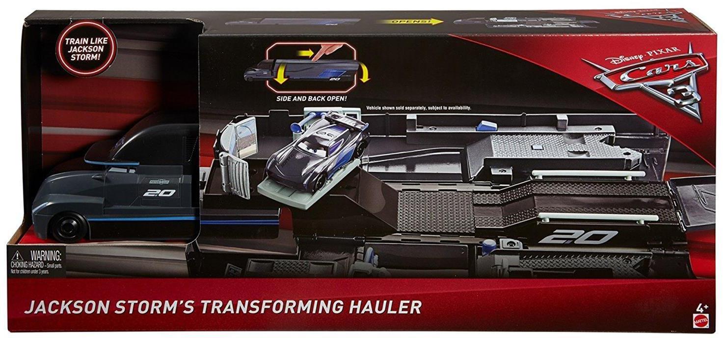 Mattel Disney Cars 3 Jackson Storm Transforming Hauler Playset