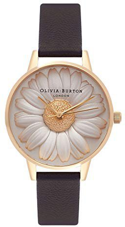 Olivia Burton 3D Watch Daisy Black/Gold
