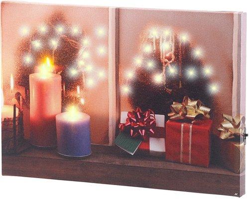 infactory Weihnachtliches Fenster 30 x 20 cm