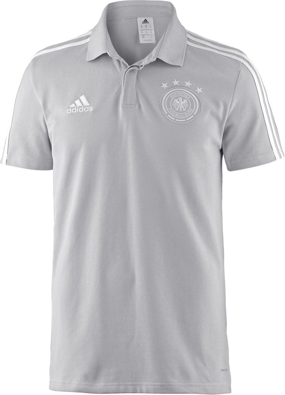 neueste Kollektion Sonderangebot verschiedenes Design Adidas Deutschland DFB Cotton Poloshirt WM 2018 grey two/white