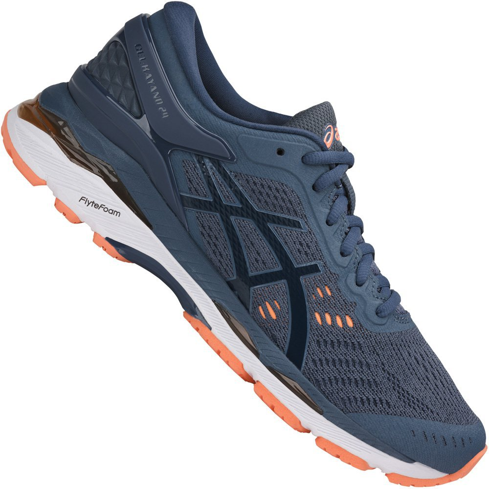 Asics Gel-Kayano 24 Women smoke blue/dark blue/canteloupe