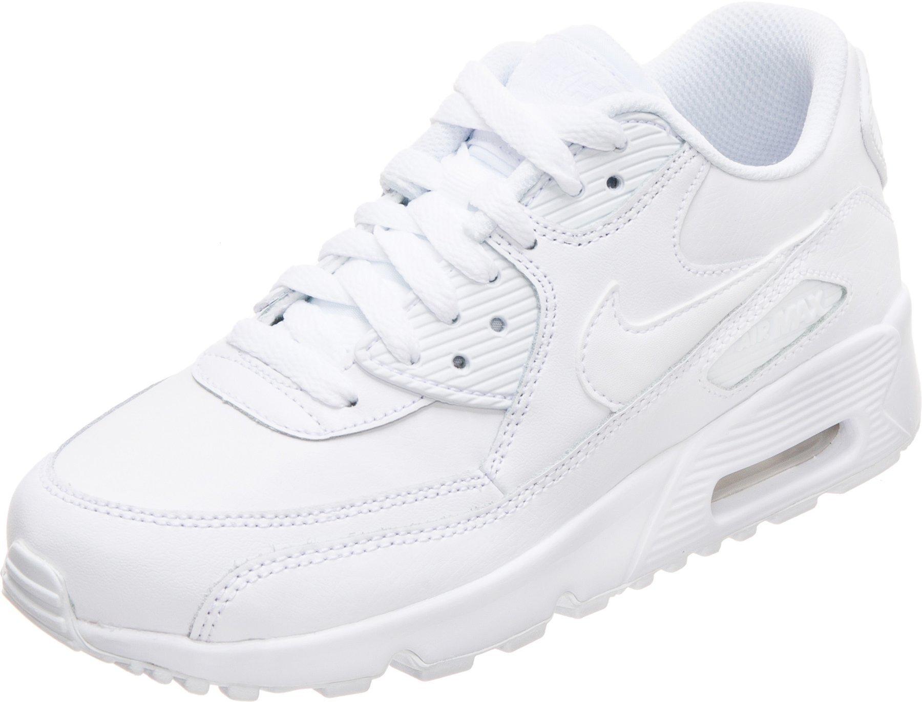 Nike Air Max 90 Leather GS whitewhite
