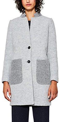 exclusive range shoes for cheap san francisco Esprit Mantel im Patchwork-Look light grey (97CC1G027)