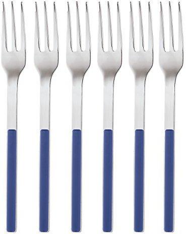 Sambonet Kuchengabeln Elba 6-teilig blau